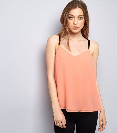 Orange Lace Back Cami Top | New Look