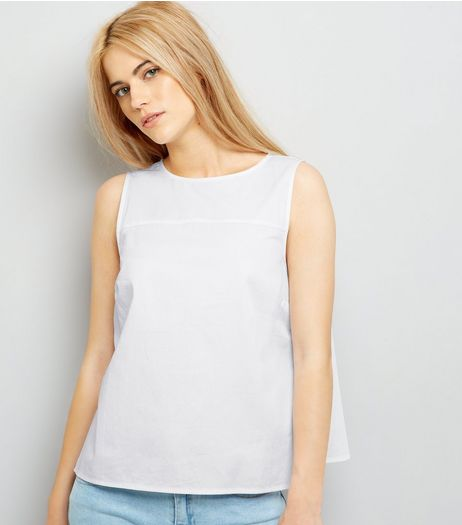 White Bar Back Sleeveless Top | New Look