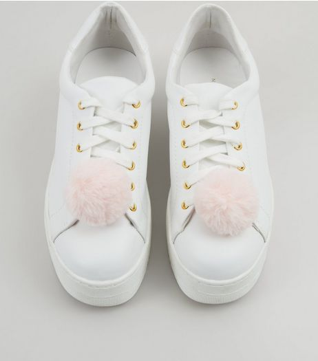 Pink Pom Pom Shoe Clips | New Look
