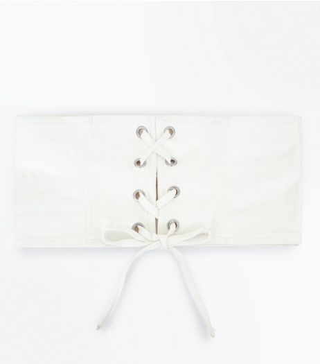 White Corset Belt | New Look