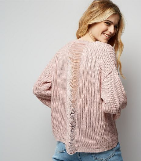 Pink Ladder Knit Back Jumper | New Look