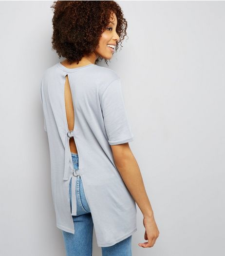 Tall Blue D Ring Back T-Shirt | New Look