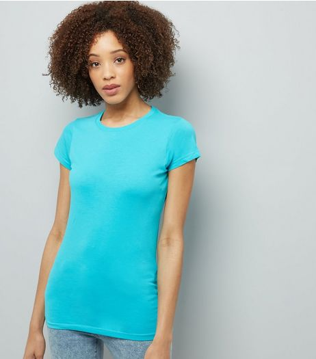 Turquoise Short Sleeve T-Shirt  | New Look