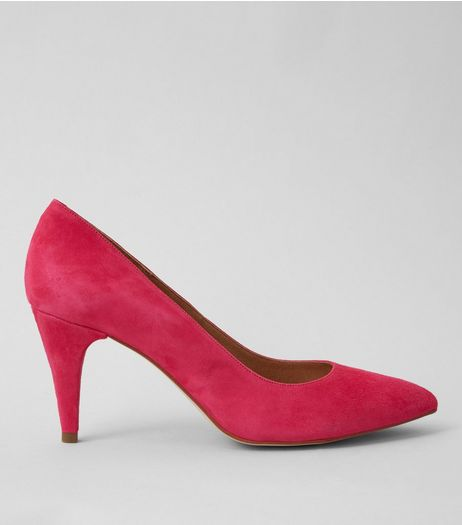 Pink Suede Pointed Court Shoes | New Look