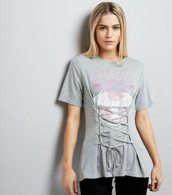 Grey Brooklyn Heights Corset Waist T-Shirt