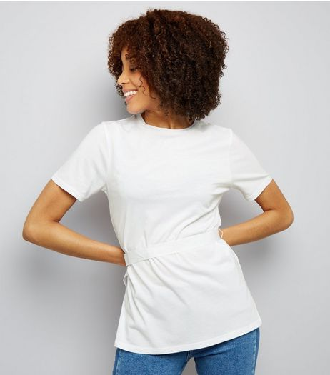 White Belted Top  | New Look