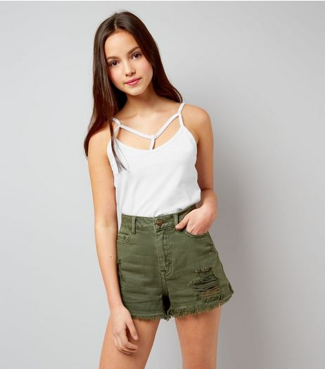 Teens White Multi Strap Cami | New Look