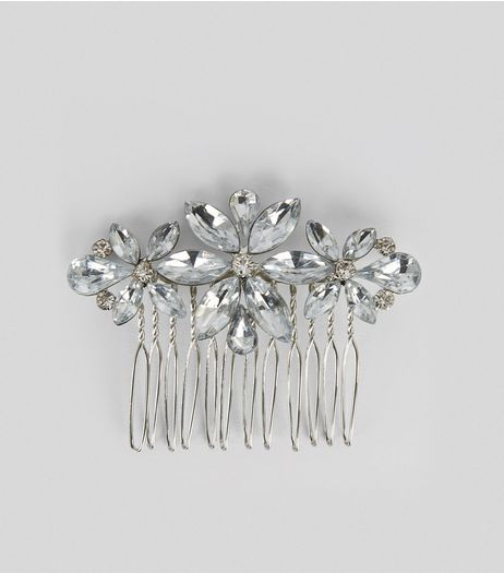 Silver Gem Stone Comb Clip | New Look
