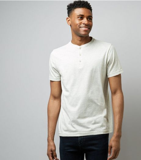 Stone Henley Shirt | New Look