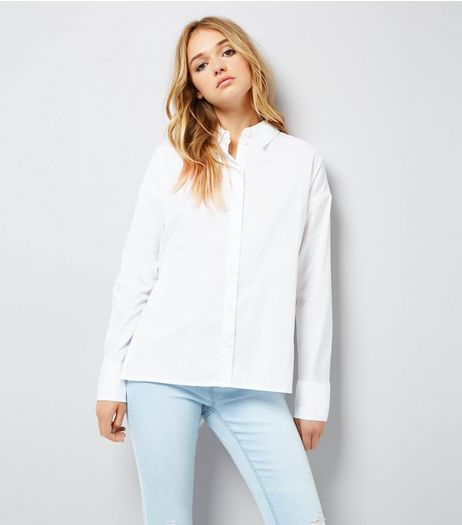 Noisy May White Lace Up Back Shirt | New Look