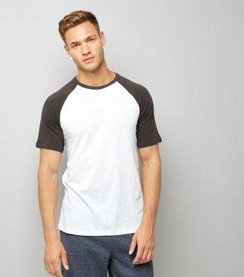 Dark Grey Raglan Short Sleeve T-Shirt
