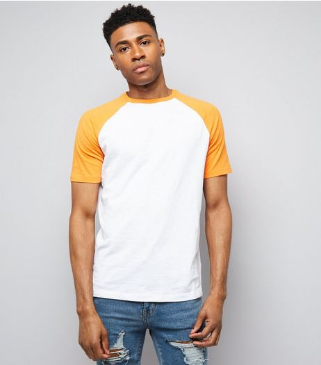 Orange Short Raglan Sleeve T-Shirt | New Look