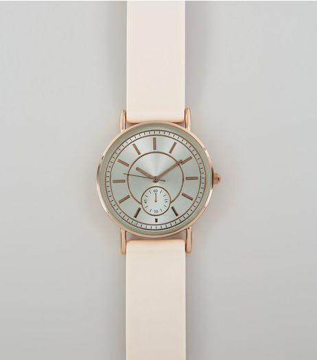 Pink Silicone Strap Watch | New Look