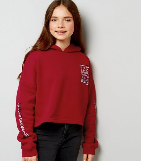 Teens Red Down Town Print Hoodie | New Look