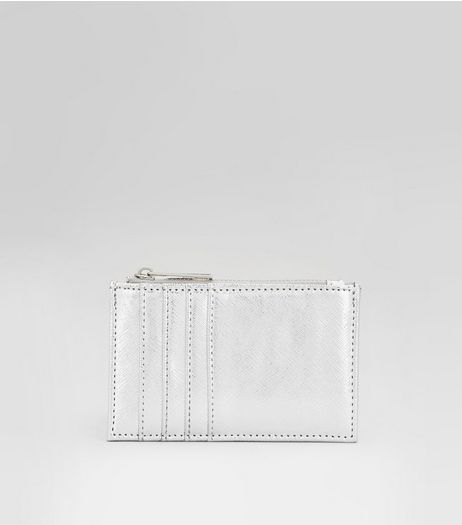 Silver Card Holder  | New Look