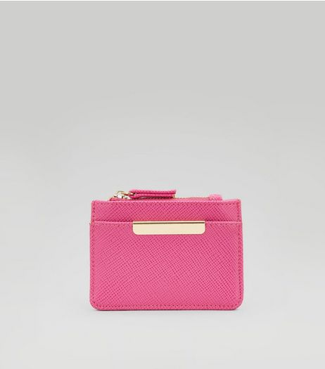 Pink Zip Top Card Holder  | New Look