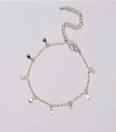 Silver Disc Chain Anklet | New Look