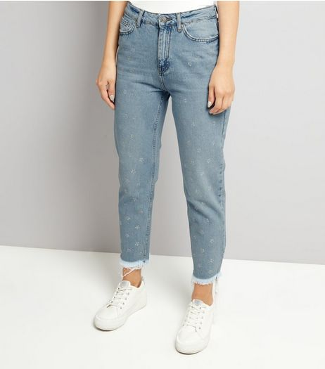 Blue Star Gemstone Mom Tori Jeans | New Look
