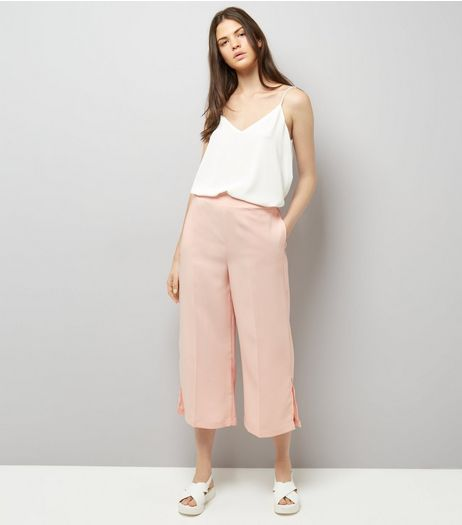 Pink Cropped Trousers  | New Look