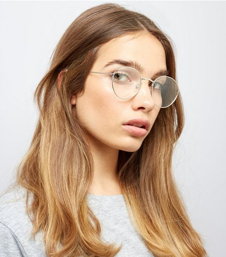 Silver Clear Lens Round Glasses | New Look