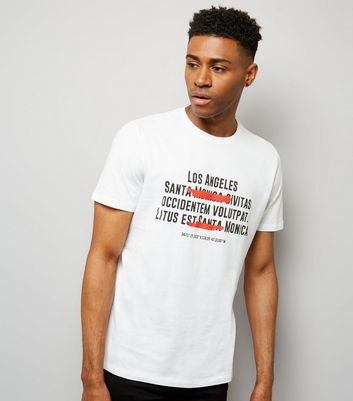 White Santa Monica LA T-Shirt