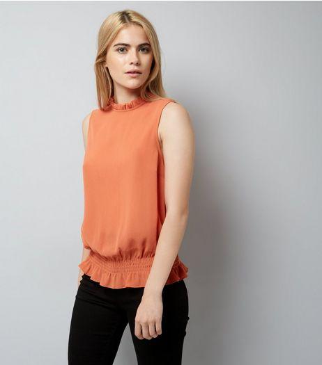 Coral Shirred Hem Top | New Look