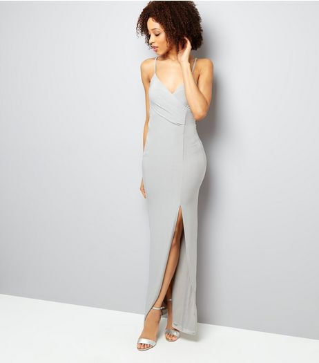 AX Paris Grey Split Side Dress | New Look