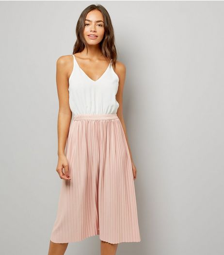 AX Paris Pink Pleated Skirt Dress | New Look