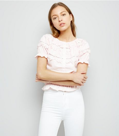Pink Lace Trim Cotton Shirt | New Look