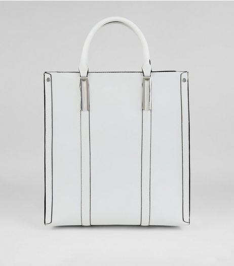 White Oversized Tote Bag  | New Look