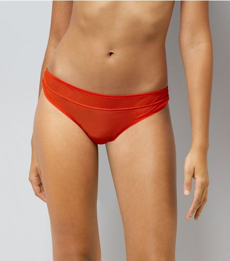 Red Fishnet Thong  | New Look