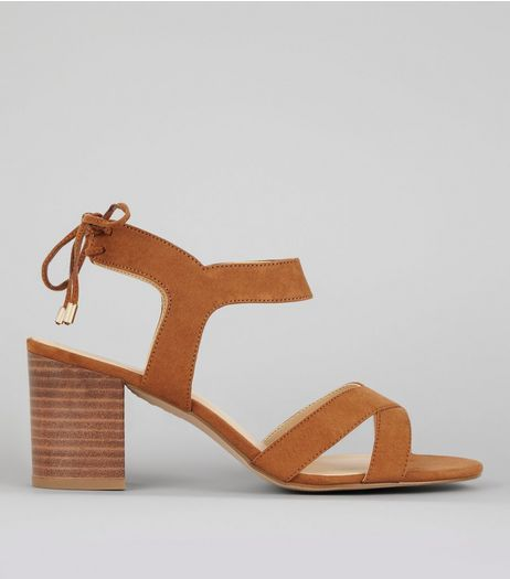 Tan Ankle Tie Up Sandals | New Look