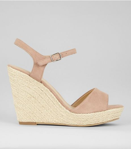 Nude Wedged Espadrille Heeled Sandals | New Look