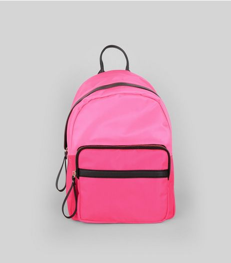Pink Neon Backpack | New Look