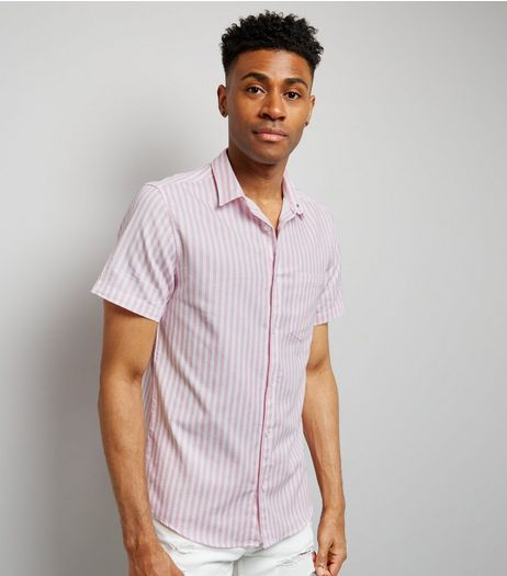 Pink Stripe Short Sleeve Shirt | New Look
