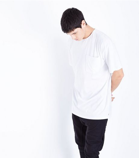 White Pocket Front Boxy T-Shirt | New Look