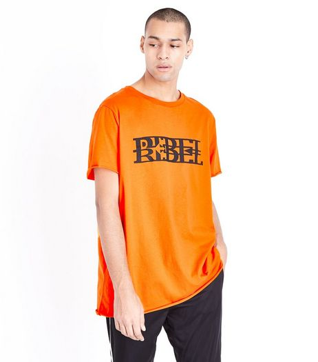 Orange Rebel Print T-Shirt | New Look