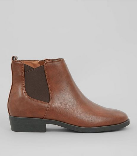 Tan Elasticated Side Chelsea Boots | New Look