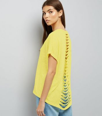 Yellow Cut Out Back T-Shirt