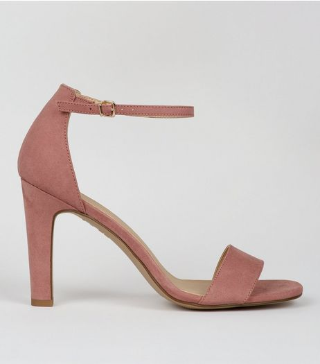 Pink Ankle Strap Heeled Sandals  | New Look