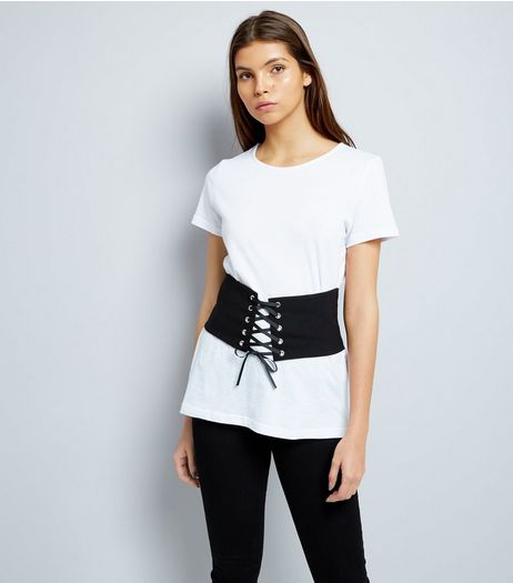 White Corset 2 in 1 Top  | New Look