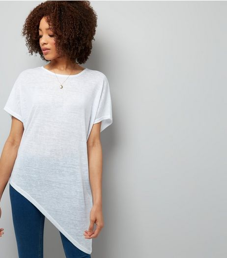White Cold Shoulder Top  | New Look