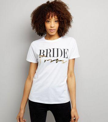 White Metallic Bride Tribe T-Shirt