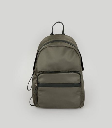 Khaki Utility Backpack | New Look