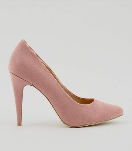Pink Suedette Cone Heel Pointed Court Shoes | New Look