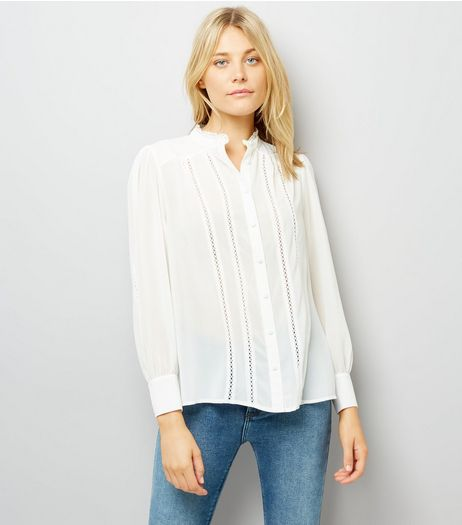Cream Crochet Trim Shirt | New Look