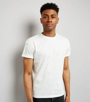White Spray Wash T-Shirt