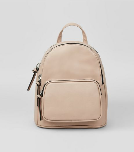 Shell Pink Chunky Zip Mini Backpack | New Look