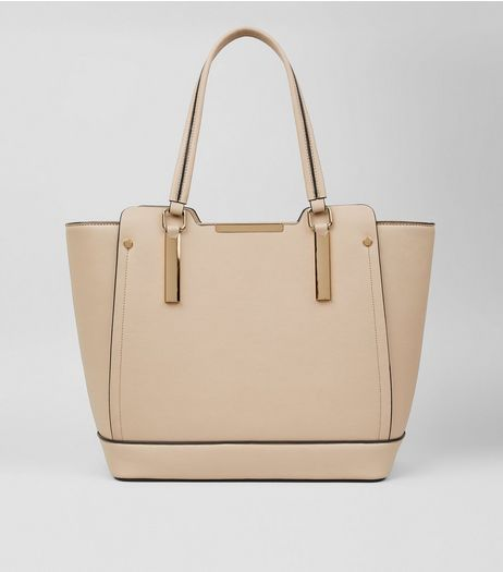 Shell Pink Metallic Trim Tote Bag | New Look