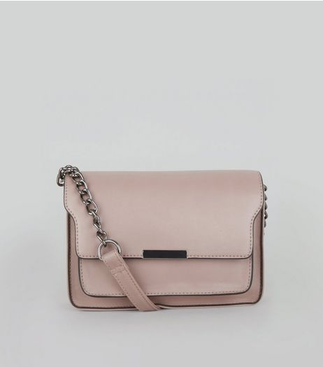 Shell Pink Chain Shoulder Bag | New Look